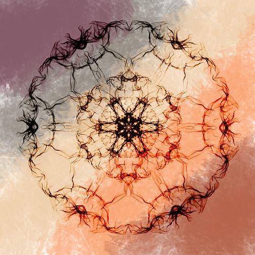 Mandala digital collage