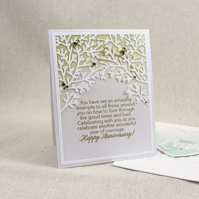 Wooded Anniversary Card
