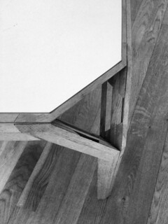 "jørn utzon, architect: ""new angle"" table for fritz hansen, early prototype 1960's"