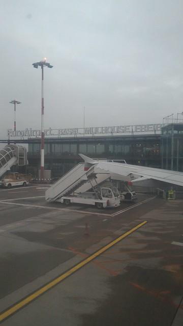 British Airways Flight BA 755 from Basel Mulhouse Freiburg EuroAirport (BSL) to London Heathrow (LHR) (Airbus 319-100 - G-EUPO)