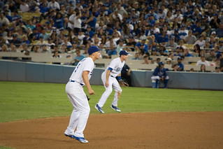 Corey Seager & Chase Utley fielding.