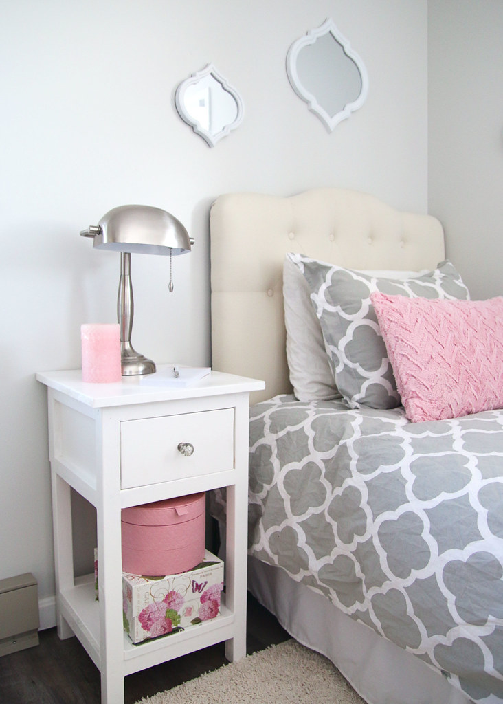 Tween Bedroom Nightstand and Storage