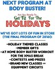 Get Fit For The Holidays! Last Bootcamp program of 2016!  We have lots of FUN in store for everyone:smile::muscle::thumbsup:  Body Buster Fitness Bootcamp  www.BodyBusterFitness.com  #Toronto #Etobicoke #Mississauga #PortCredit #HighPark #Langley #Surrey
