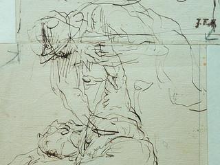 MILLET Jean-François,1850 - Départ pour le Travail, Etude - The Walk to Work  (drawing, dessin, disegno-Louvre RF11191) - Detail 51