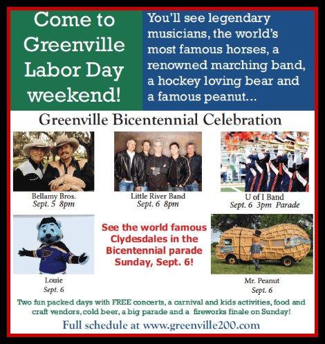 Greenville Celebration 9-5, 9-6-15