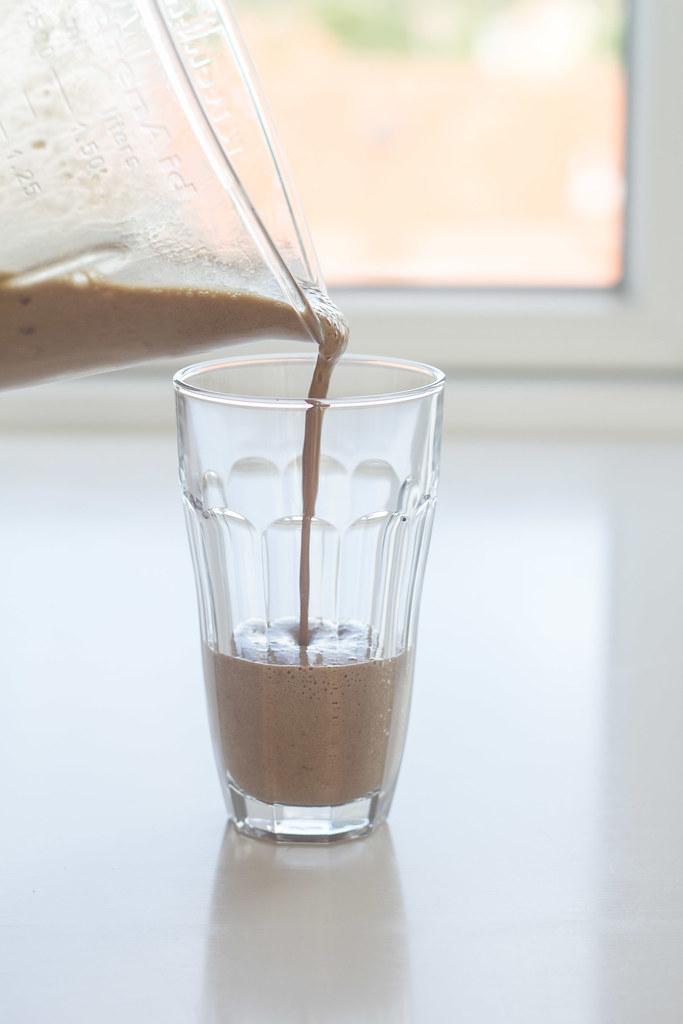 Sund kaffe-banan shake