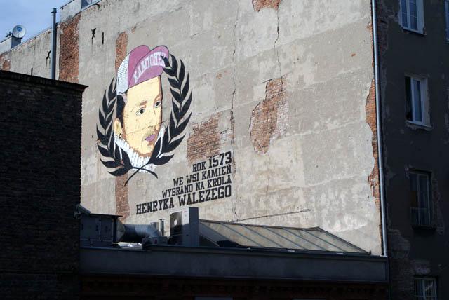 Le roi Henri de Valois sur un mur de Varsovie : Il s'enfuit de nuit avec les joyaux de la couronne