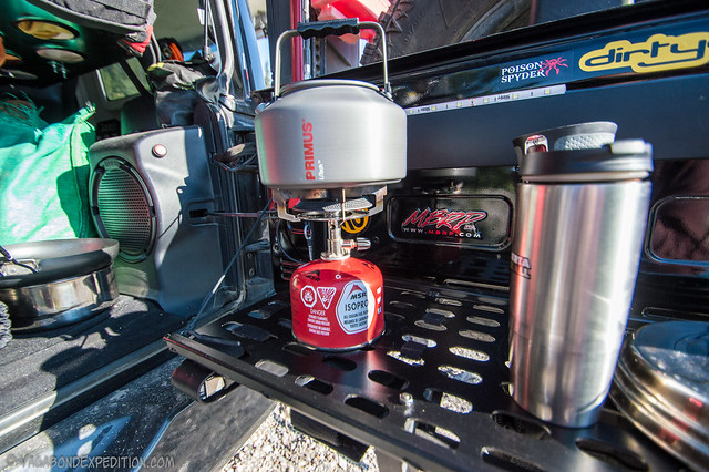 primus litech kettle, msr gas and primus stove