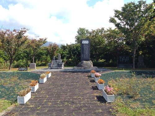 rishiri-island-tanetomi-bicycle-and-car-parking-park-grave-of-samurai01