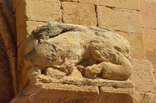 Biota (Aragon), San Miguel - sculpture romane - 07