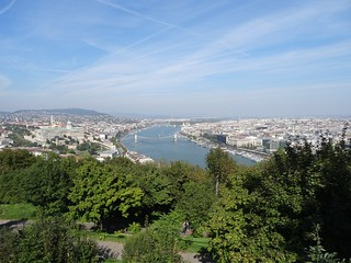 Image of Citadel. 2015 herfst budapest boedapest hongarije hungary magyarország danube donau from citadella von citadel autumn