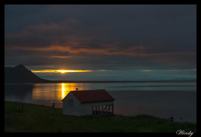 Islandia Myvatn Godafoss Akureyri Glaumbaer Vidimyrarkirkja Grundarfjordur - Sol de medianoche en Fiordo Grundarfjördur