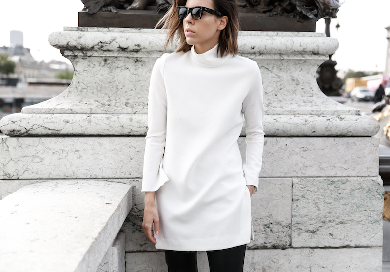monochrome street style, outfit, inspo, Ellery, Super Creep tunic top, Bassike leather pants, Acne Jensen ankle boots, Givenchy Antigona medium, Céline ombre sunglasses, fashion blog, modern legacy (11 of 13)