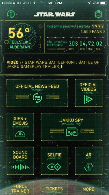 Disney's Star Wars app