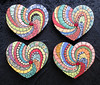 Mosaic Heart Spin Hearts -SOLD