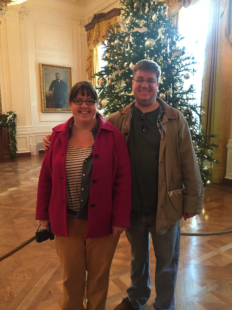 Ken and I at White House for Christmas Tour