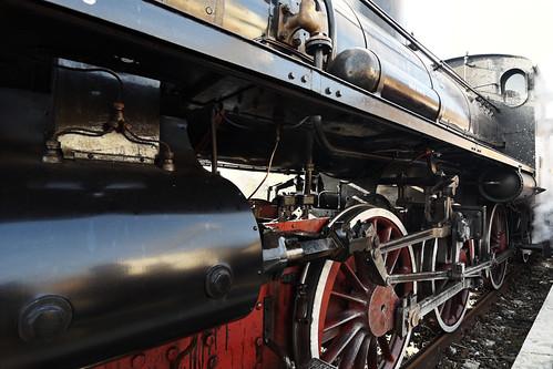 treno storico Avezzano Roccasecca 13-12-2015 - la locomotiva