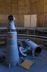 Inside abandoned Observatory of Pioneers Palace, 14.10.2014.