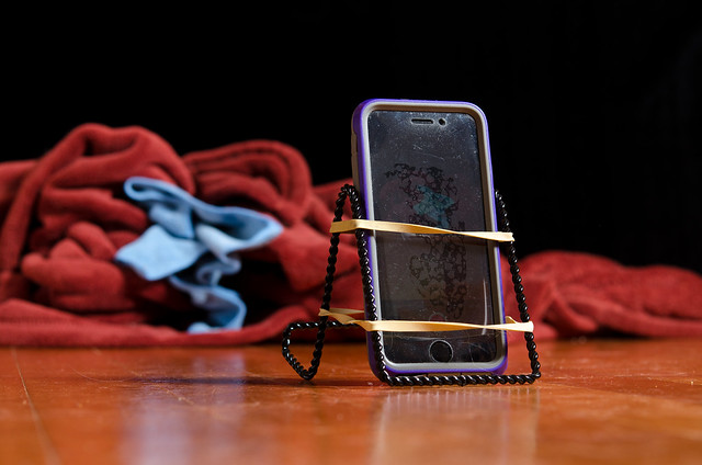 DIY iPhone holder