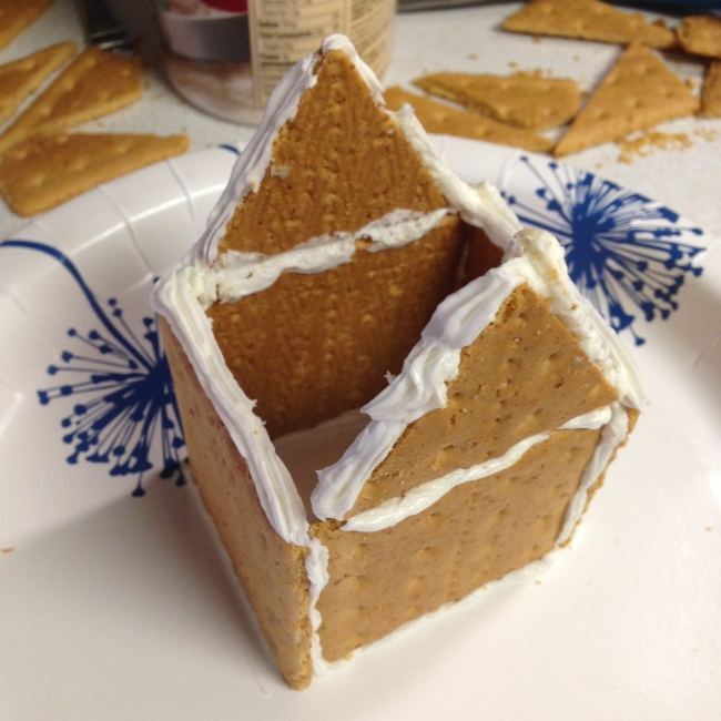 'Gingerbread' house step-by-step, 9