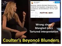 Coulter's Beyoncé Blunders