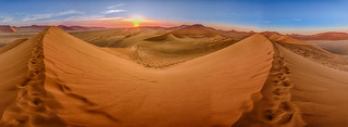 Sunrise at Namibia's Dune 45