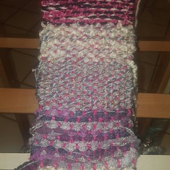 Candy wove one of her fabulously popular scarves