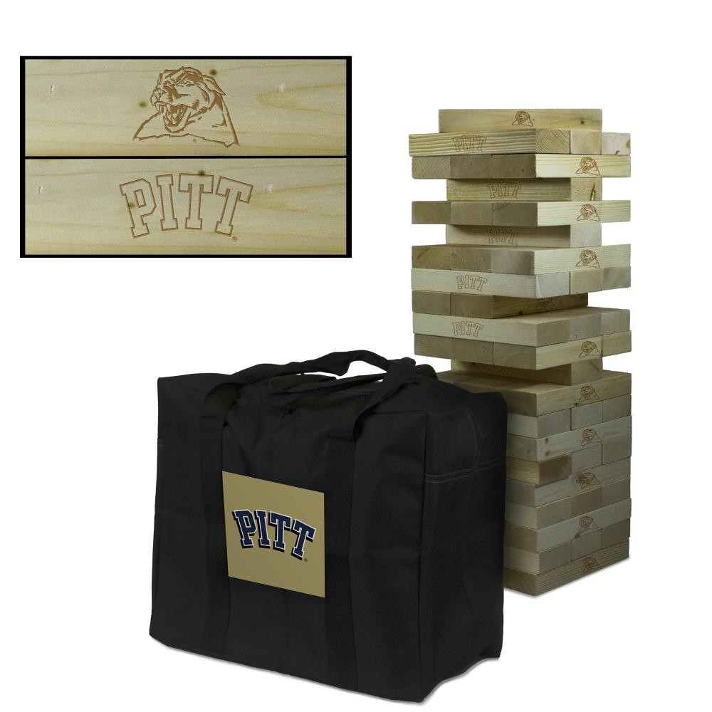 Pittsburgh Panthers wooden tumble tower game