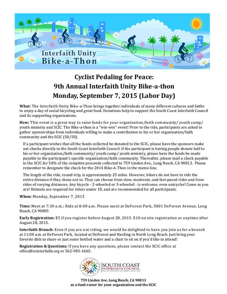 South Coast Interfaith 9th Annual Bike-a-thon