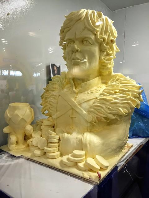 Une sculpture sur beurre de Tyrion Lannister, au CNE !