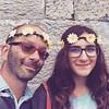 'Papà sicuro che non sembriamo due scemi?' 'Due splendidi scemi, figliola' #flowerpower