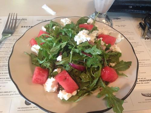 Feta and watermelon salad