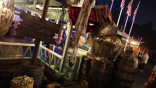 Pirate Decor at Disneyland Halloween Party