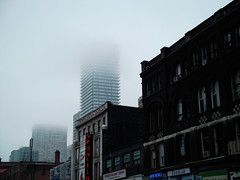 Disappearing into fog
