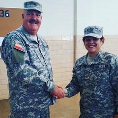 General Palmer and Major Janet Alvarez Gonzalez