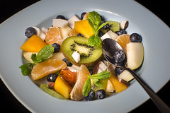 Delicious tasty exoctic fruit salad