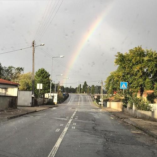 Arco iris al final del camino! #arcoiris #rainbow #otoño #outono #aguadadebaixo #portugal