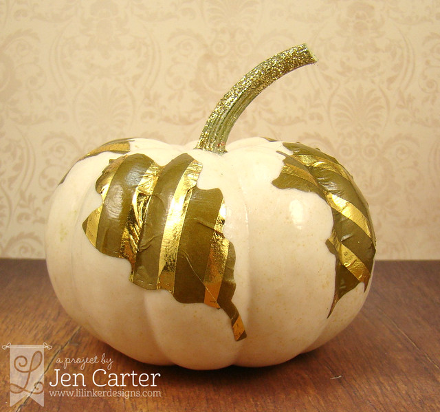 Jen Carter Gold Pumpkin Leaves 3 wm