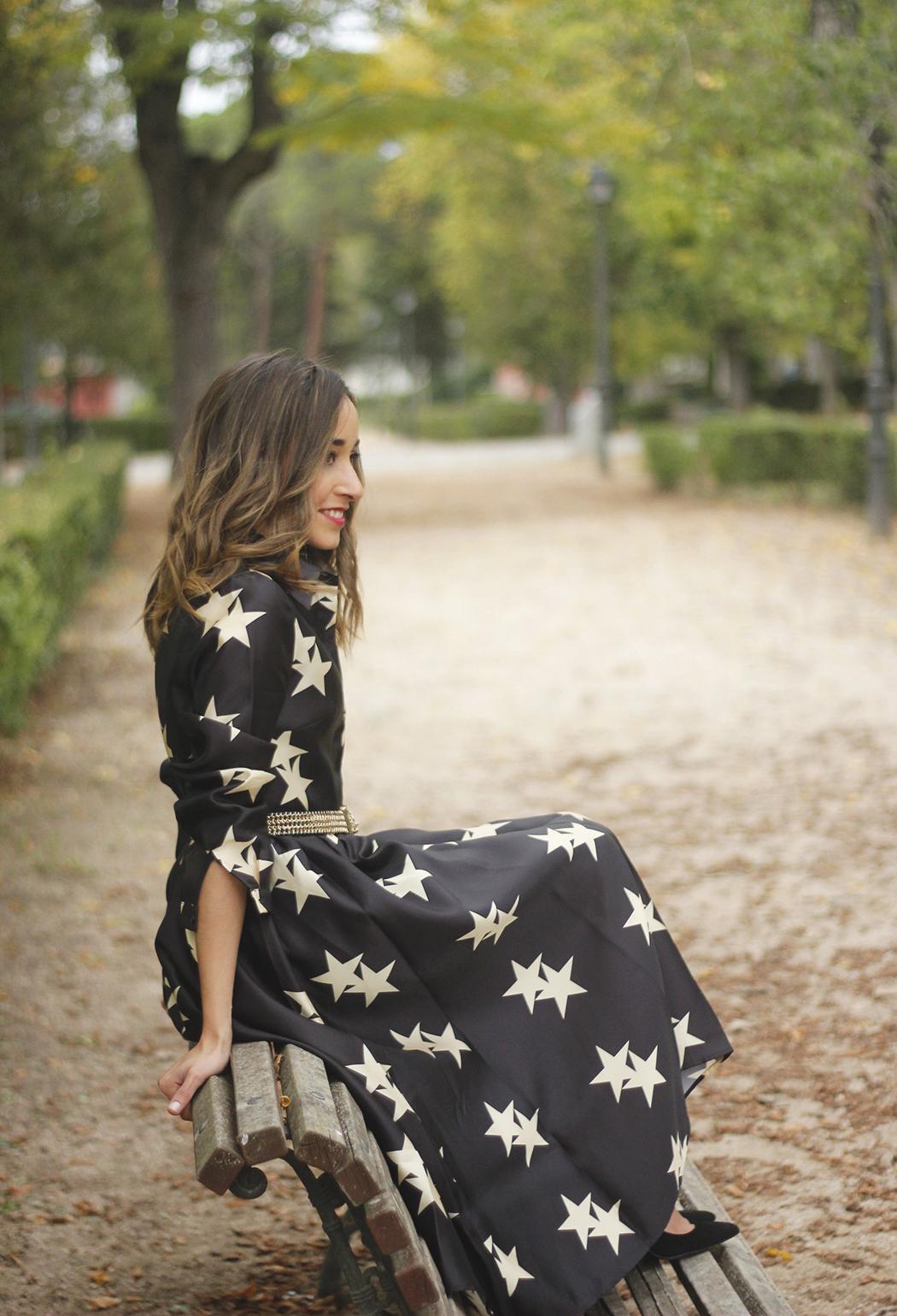 Star Print Dress sunnies heels outfit21