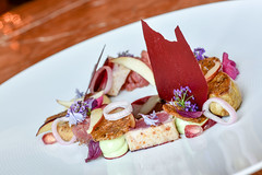 Tuna Tartare, Slightly Seared Tuna, paired with Ro…