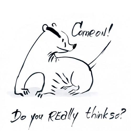 Do you really think so? #badger #badgerlog