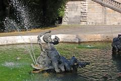 München - Friedensengel (12) - Brunnenanlage auf der Terrasse vor dem Denkmal