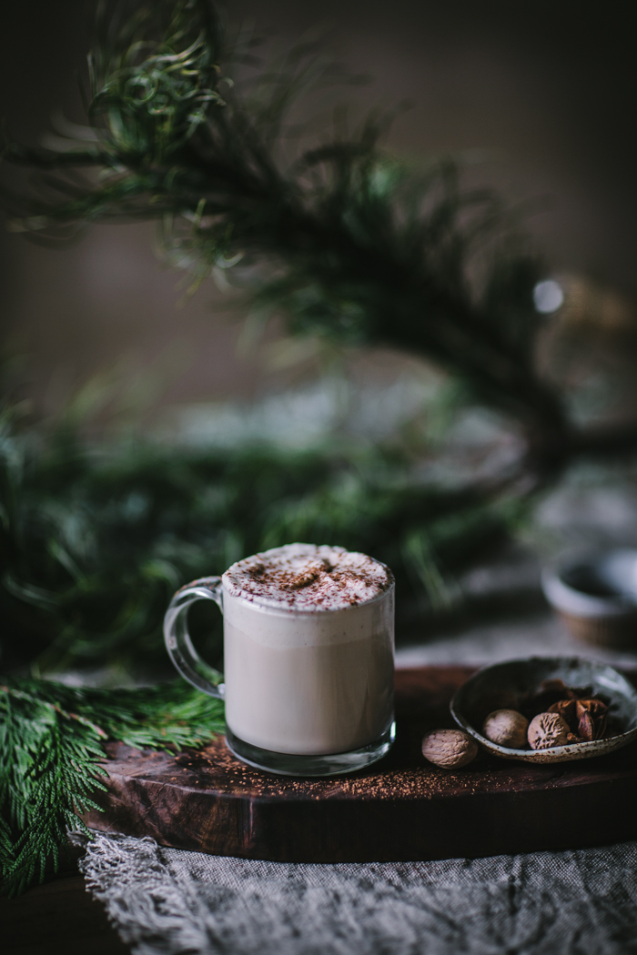 Maple Hazelnut Eggnog by Eva Kosmas Flores | Adventures in Cooking
