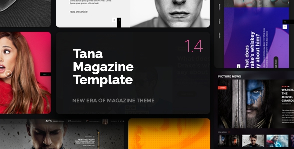Magazine Tana v1.4.1 - News, Music, Movie, Blog, Fashion Template