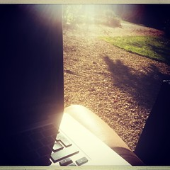 Awful working conditions at #lagrossetalle :-). On travaille dur le samedi ! #arrieresaison #paysmellois #deuxsevres #écriture #livre #writing