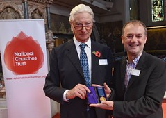Adrian Pearson , Lloyd Evans Prichard, receives the King of Prussia Gold Medal from Prince Nicholas von Preussen