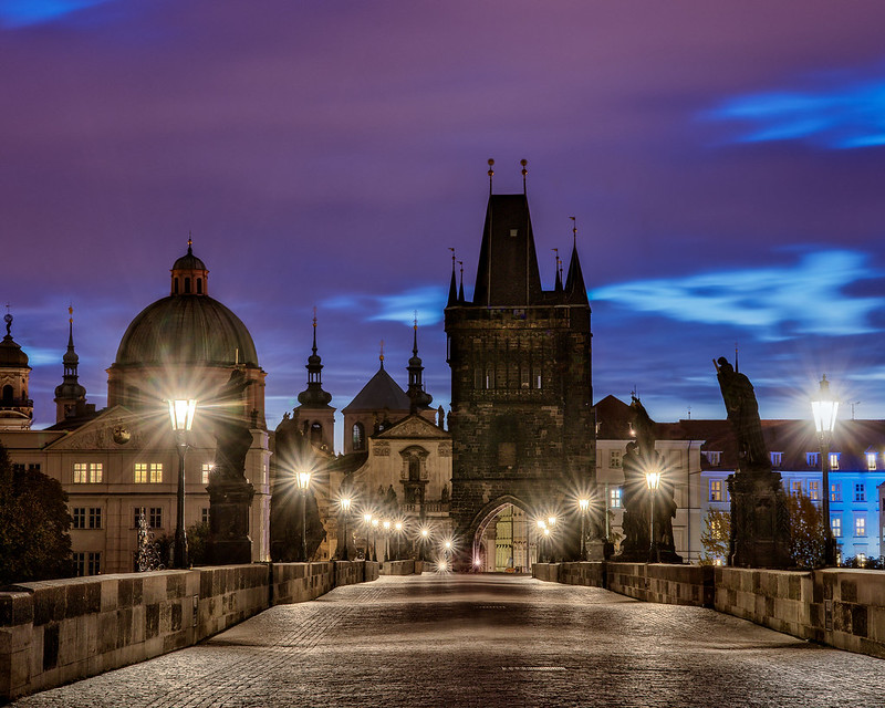 Early AM on Charles bridge