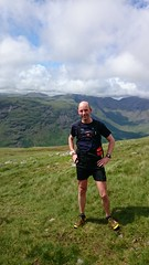 Kevin on the descent from Scafell Image