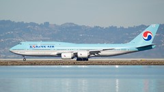 Korean Airlines Boeing 747-8 HL-7630 takeoff SFO runway 28 port profile DSC_0977