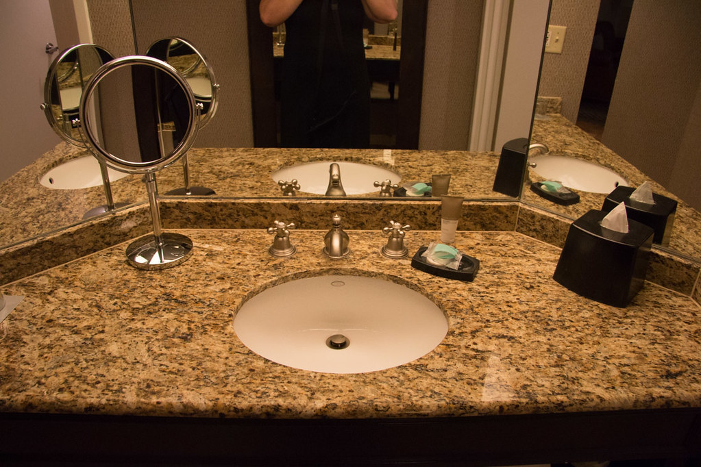 Bathroom in the 1 bedroom suite at Hyatt Hill Country Resort and Spa